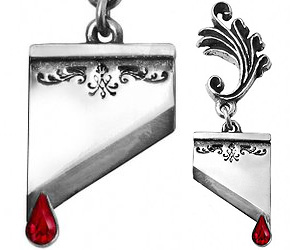 guillotine earrings guillotine blade earrings buy this bling 5176