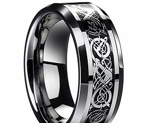 Mens Dragon Scale Celtic Ring Buy This Bling