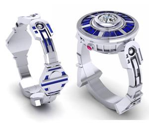 r2d2 droid rings - R2d2 Wedding Ring
