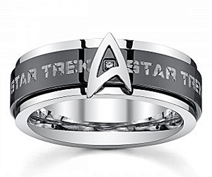 star trek spinner ring - Star Trek Wedding Ring