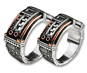 steampunk wedding rings - Steampunk Wedding Rings