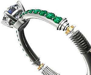Lightsaber Engagement Ring Buy This Bling