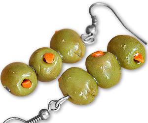 Martini Olive Earrings