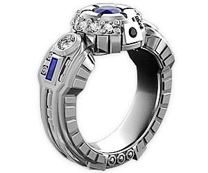 r2d2 engagement ring - R2d2 Wedding Ring