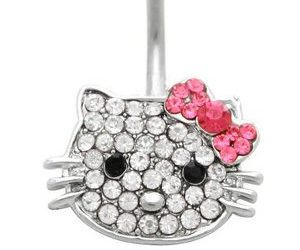 Hello Kitty Belly Button Ring Buy This Bling