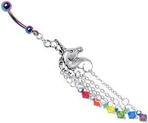 Rainbow Unicorn Navel Ring Buy This Bling