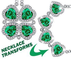 538f82d52560bc 4 Leaf Clover Swarovski Crystal Pendant